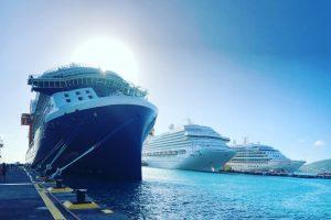 Celebrity Edge docked in St Maarten