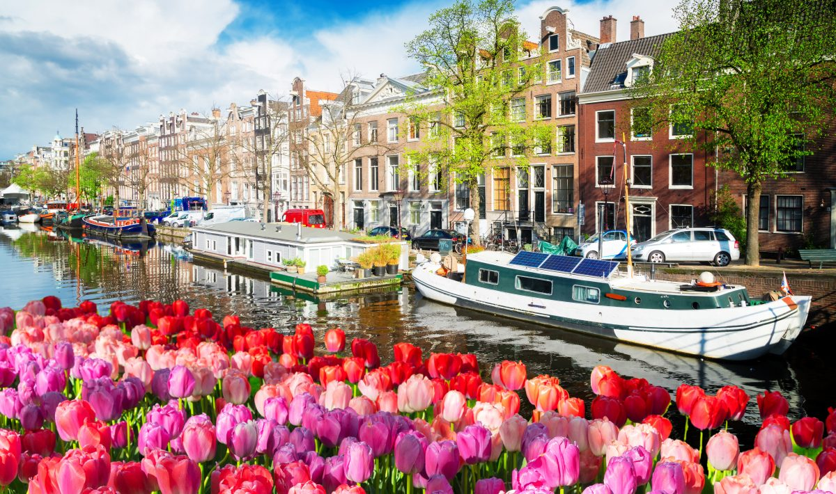 Amstel canal, Amsterdam