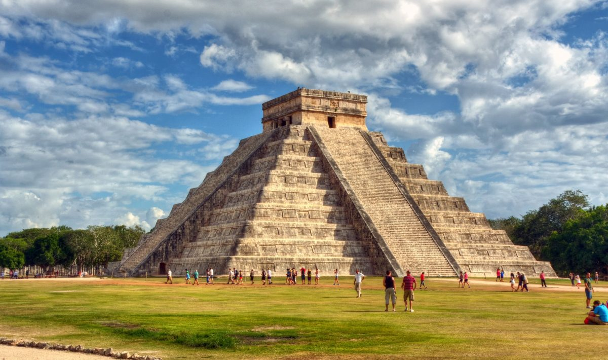 Mayan pyramid in Chichen Itza, Mexico